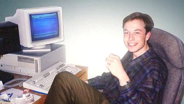 Elon Musk Giovane