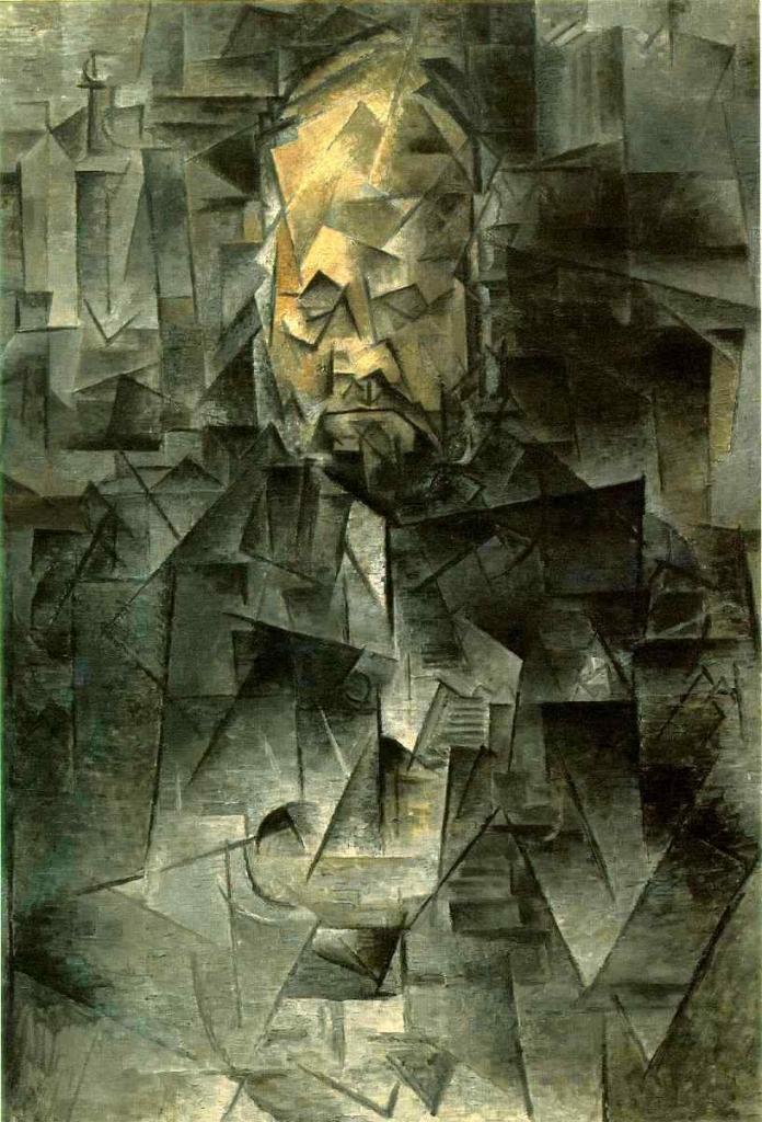 """Pablo Picasso """"Ritratto di Ambrosie Vollard"""" 1910 – Olio su Tela - cm 81 x 64 - Courtauld Gallery – Londra"""