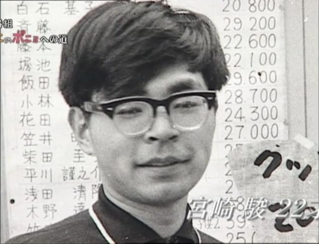 Hayao Miyazaki da giovane